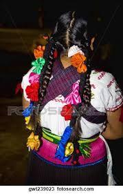 Peinado tradicional purepecha.