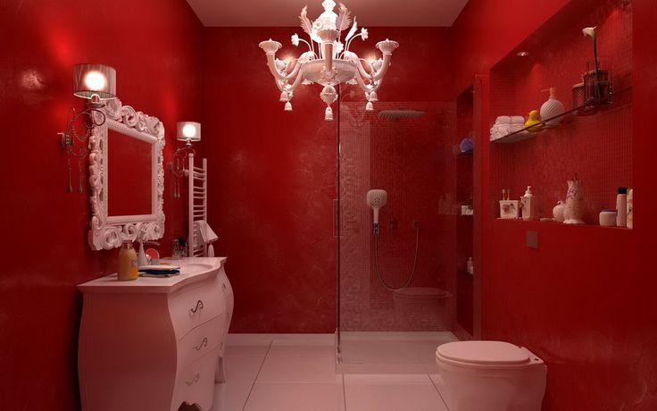 дизайн санузла, яркий интерьер ванной комнаты, санузел для гостей, душевая комната, современная классика