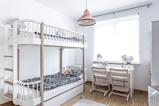 scandinavian shared girls' room