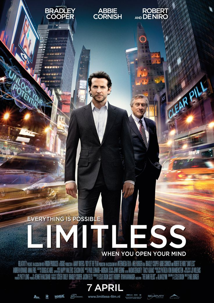 Limitless.    Just saw this one. It's an awesome movie!