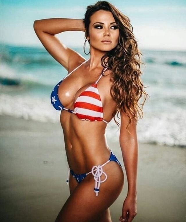 1431b83f49cd2 American Classics Bikini Babes, Bikini Girls, Thong Bikini, Bathing Suits,  Patriotic Swimwear