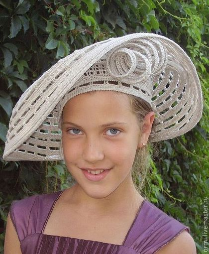 """Шляпы ручной работы. Ярмарка Мастеров - ручная работа. Купить Шляпа """"Экстра"""". Handmade. Серый, девушкам, Вязание крючком"""