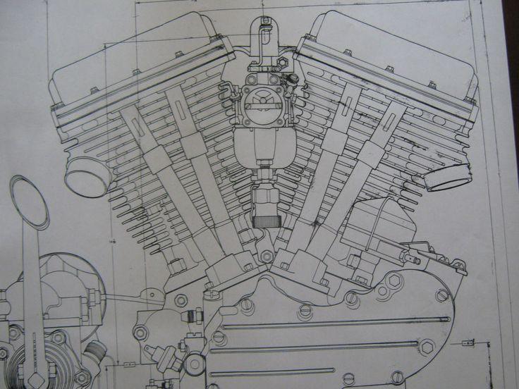 49 Best Images About Harley Davidson Engine Blueprint
