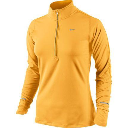 Wiggle Nederland | Nike Women's Element Half Zip Top - SU14 Hardloopshirts met lange mouwen