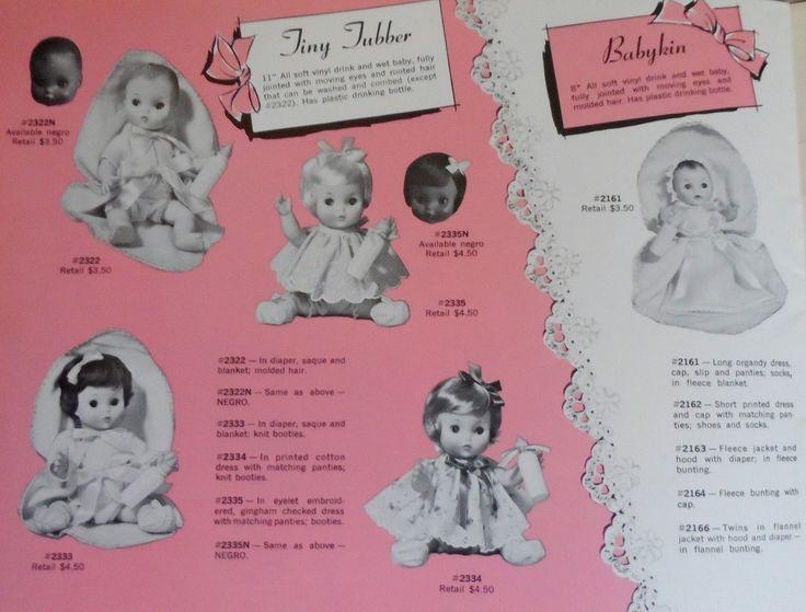 1968 Effanbee Tiny Tubber and Babykin