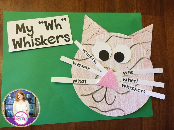 """My """"Wh Whiskers."""" Students make a cat and then write """"wh"""" words on the whiskers. Super cute digraph craftivity."""