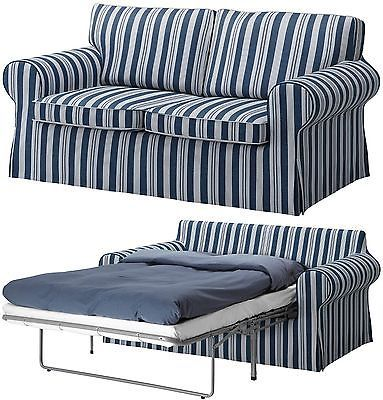 New Ikea Ektorp Sofabed Sofa Bed Cover Slipcover Abyn Blue