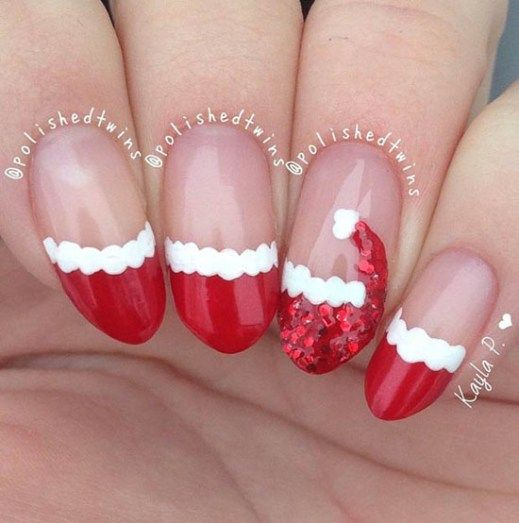 santa-hat-christmas-nails