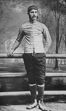 """Walter Camp, professional football coach, who is known as the """"Father of American Football"""" was born on April 7, 1859. Among his creations are the play from scrimmage, the numerical assessment of goals and tries, the restriction of eleven team players per side, the adoption of the forward pass, and other strategies for the game."""