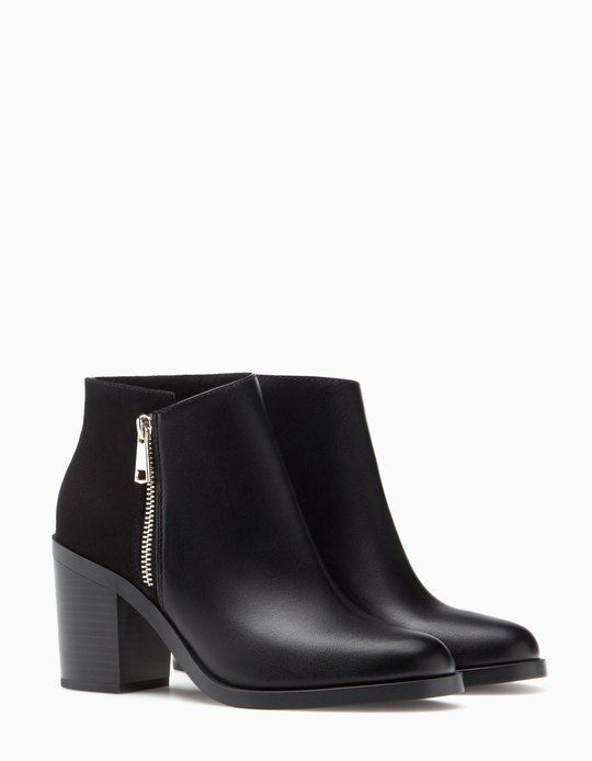 High heel ankle boots with zip detail - BOOTS AND ANKLE BOOTS - WOMAN | Stradivarius Croatia
