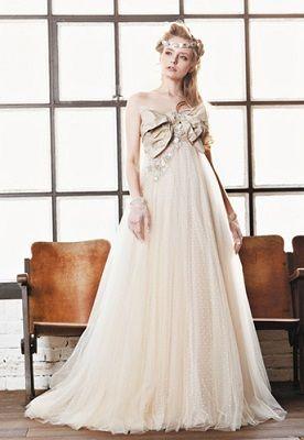 Wedding empire dress マイム