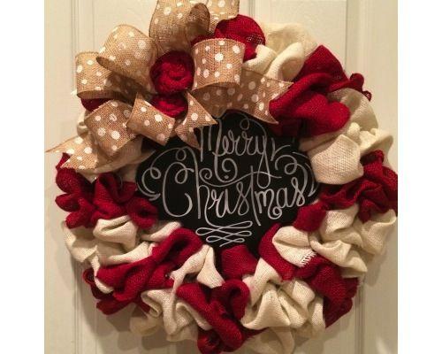 Best 25+ Burlap christmas wreaths ideas on Pinterest | Burlap ...
