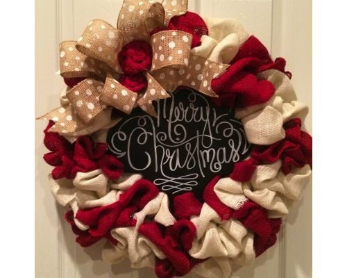 Burlap Christmas wreath | CraftOutlet.com Photo Contest - CraftOutlet.com