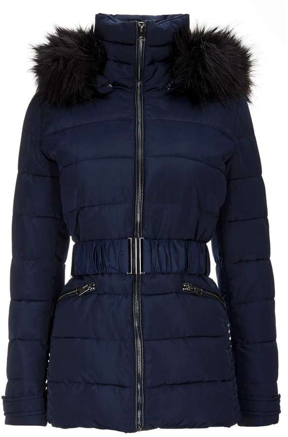 Navy Padded Short Jacket