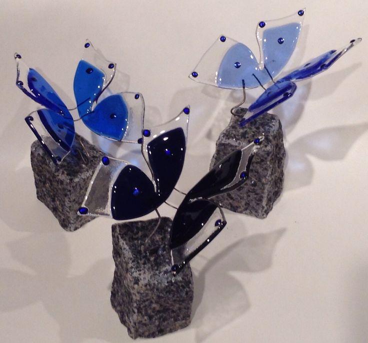 Sommerfugle på bornholmsk granit