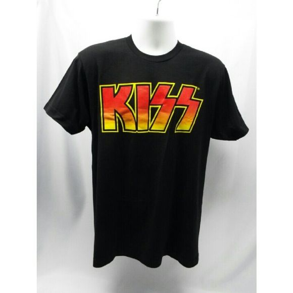 NEW KISS T-SHIRT Classic old school logo (L) KISS Band Throwback Logo T-Shirt (Men's Sizes) Ultimate Classic Rock #7643  Black soft Lightweight 100% cotton  will look great over time.  We also sell on stores.ebay.com/hollywood-mint  Ship 6 days a week. kiss Tops Tees - Short Sleeve