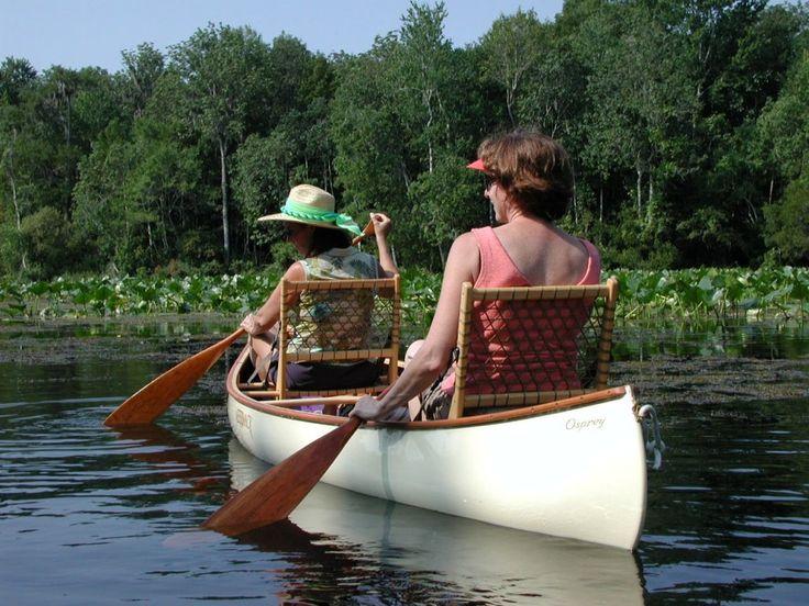 Merrimack wooden canoes.  Made in Crossville, TN.
