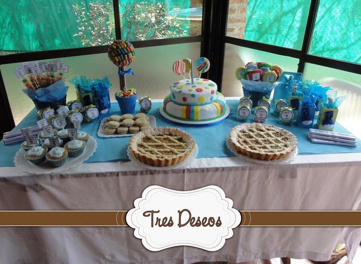 Mesa dulce prime a o y bautismo ambientaci n de eventos for Mesa dulce para bautismo