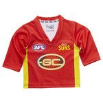 Gold Coast Suns Longsleeve Baby Toddlers Footy Jumper Guernsey $46.95