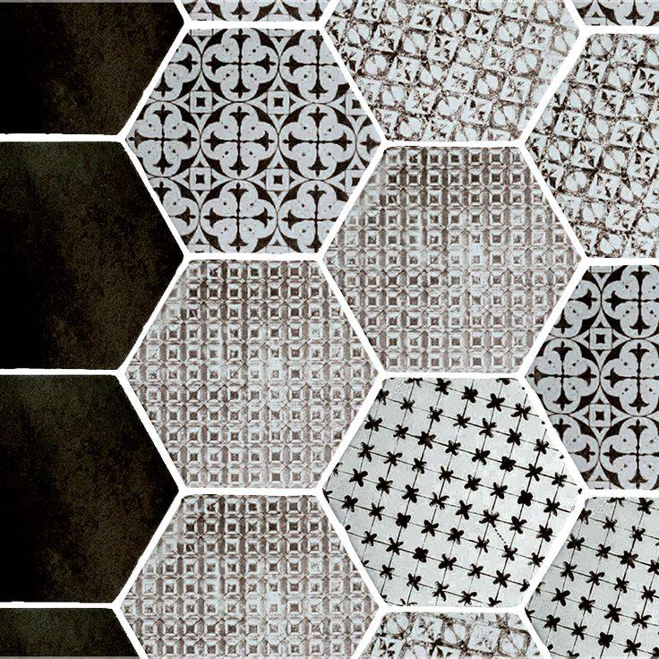 les 25 meilleures id es concernant carrelage hexagonal sur pinterest salle de bains carrelage. Black Bedroom Furniture Sets. Home Design Ideas