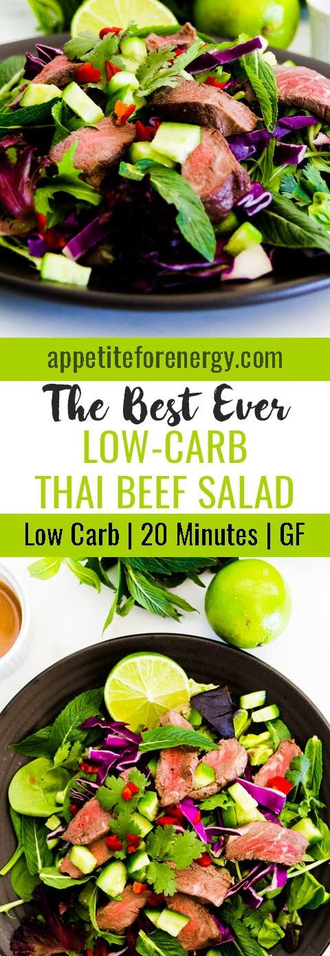 This is the best ever recipe for Low-Carb Thai Beef Salad that I have tried. It's low-carb, it's fresh and light and will be ready in 20 minutes. FOLLOW us for more 30 Minute Recipes. PIN & CLICK through to get the recipe!  Low-carb diet   ketogenic diet https://TheKetosisCookbook.tumblr.com