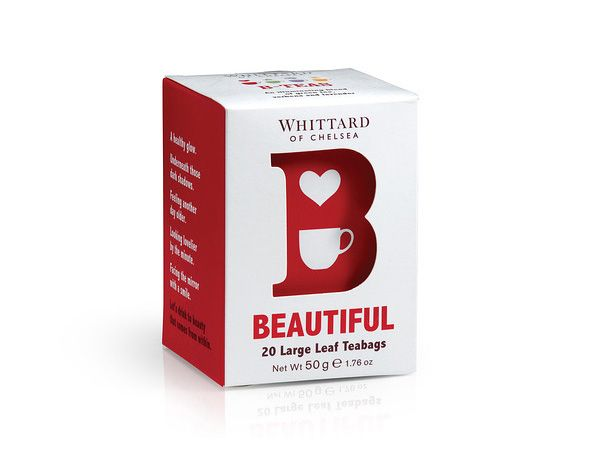 Packaging, logo and branding for B Tea from Whittard designed by Nick and Carole