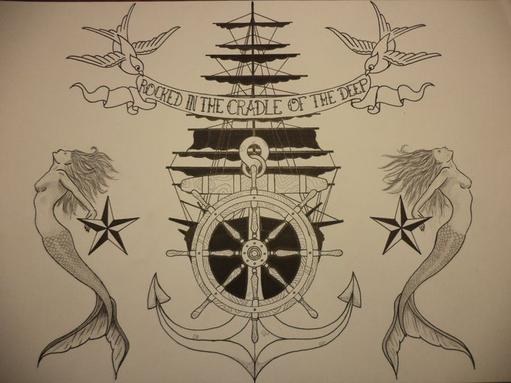 Traditional sailor tattoo style art traditional for Traditional navy tattoos