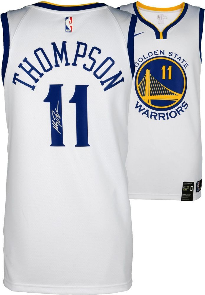 a3ee3693928 Klay Thompson Golden State Warriors Autographed Nike Swingman Jersey -  Fanatics