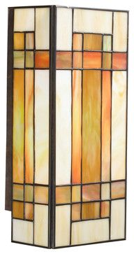 Kichler Lighting 69004 Art Glass Patina Bronze Wall Sconce - mediterranean - Wall Sconces - Littman Bros Lighting