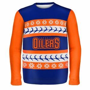 Edmonton Oilers NHL Ugly Sweater Wordmark
