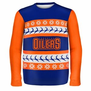 Edmonton Oilers NHL Ugly Sweater. terrible sweater for a terrible team. I would never Boo you though...