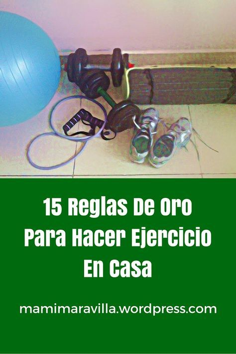 15 reglas para hacer ejercicio en casa