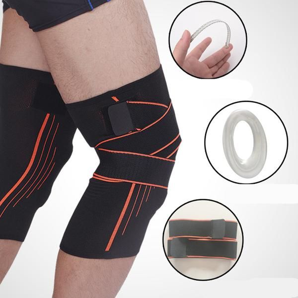 3D weaving pressurization knee brace basketball tennis hiking cycling knee support professional protective sports knee pad 1PCS