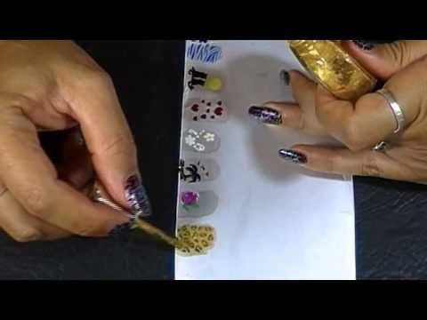 Como hacer Stickers para uñas caseros II - YouTube