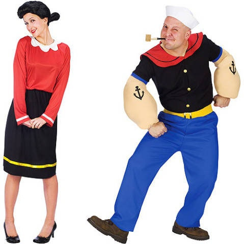 Popeye & Olive Oyl. Once I have a boyfriend, we are doing this... NO ONE BETTER STEAL THIS FROM ME >:/