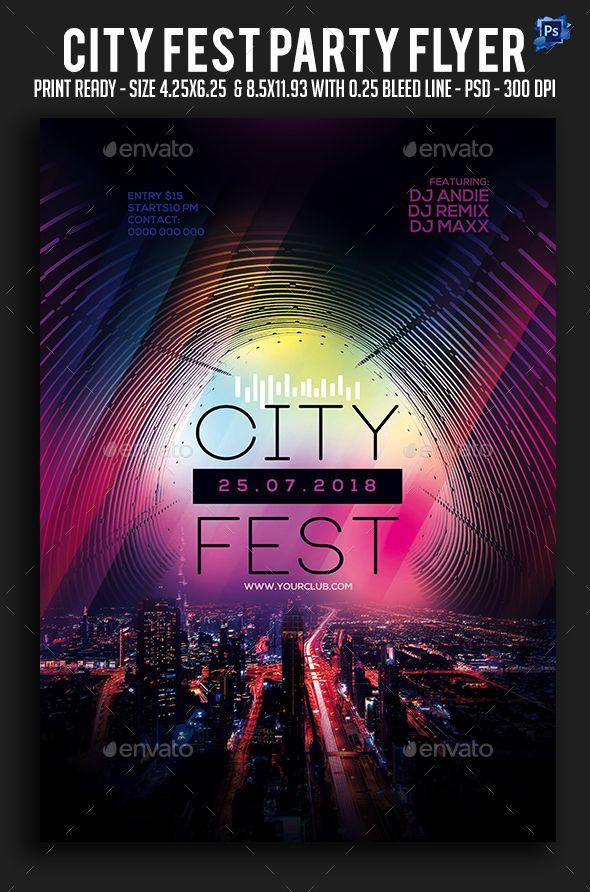 city fest party flyer fest city flyer party templates