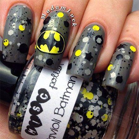 30 Easy & Simple Batman Nail Art Designs, Ideas, Trends & Stickers 2014
