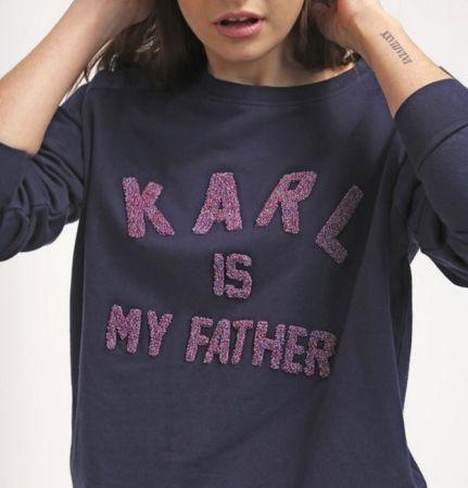 Eleven Paris FAMY Bluza KARL IS MY FATHER navy