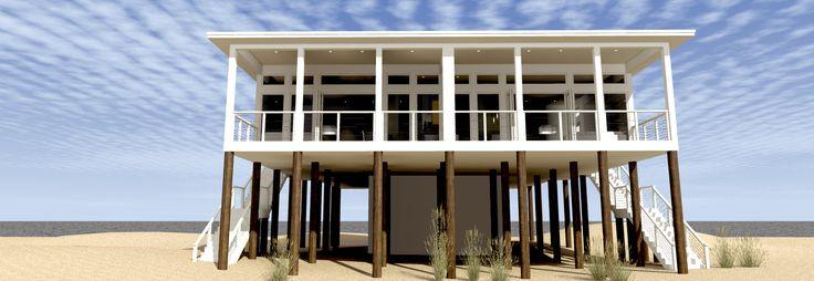 Plan 44127TD: Modern Beach Duplex Plan