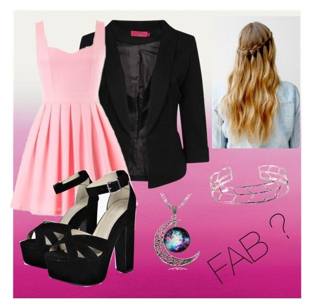 """""""Fab outfit with skater dress"""" by makayla-simpson on Polyvore"""