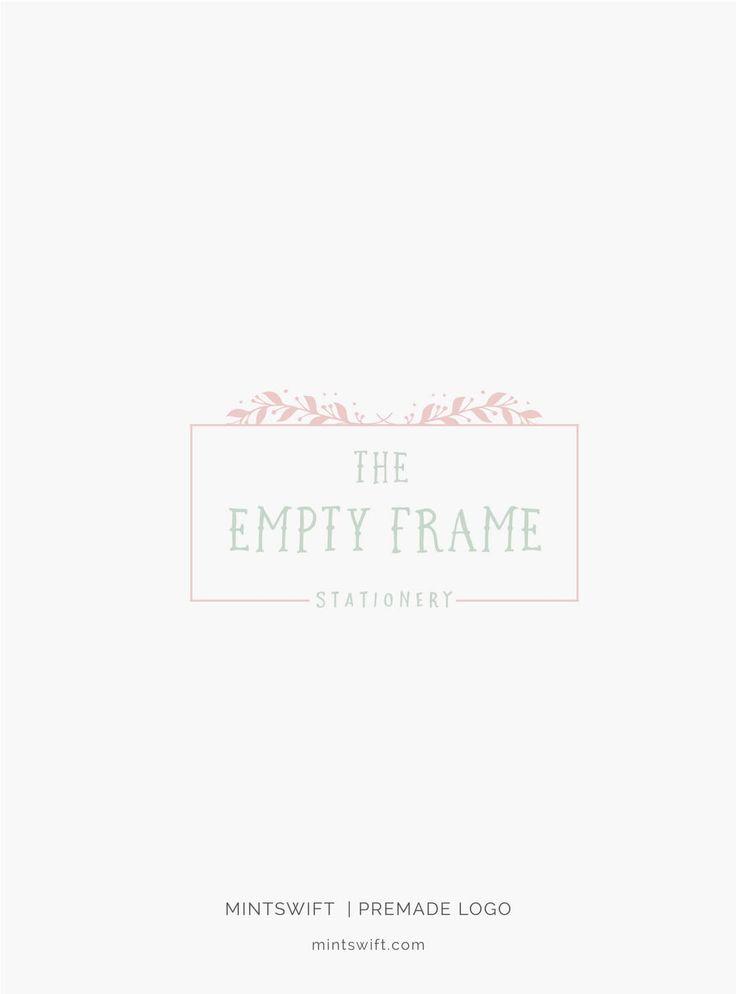 $39 | The Empty Frame Premade Logo Design | MintSwift