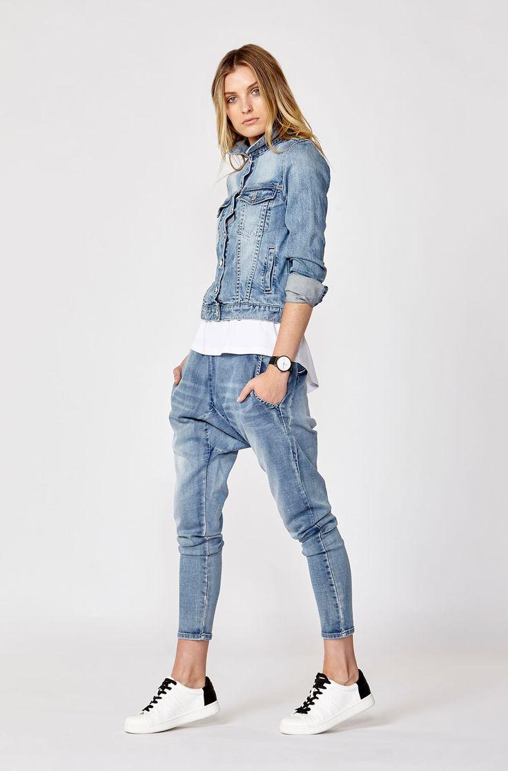 D: Luxe by Decjuba. Shop the Sienna Denim Jacket & Fleur Drop Crotch Jeans.