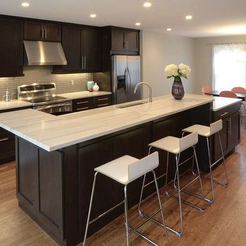 Espresso Cabinets, Contemporary, kitchen, Drawing Dept Architects