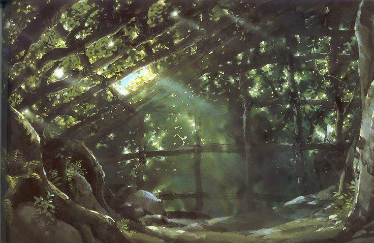 Cenários do filme Princesa Mononoke (Studio Ghibli) | THECAB - The Concept Art Blog