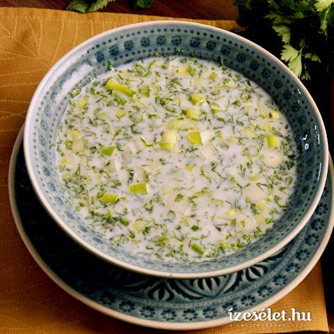 Azeri hideg joghurtleves zöldfűszerekkel és csicseriborsóval - Receptek | Ízes Élet - Gasztronómia a mindennapokra