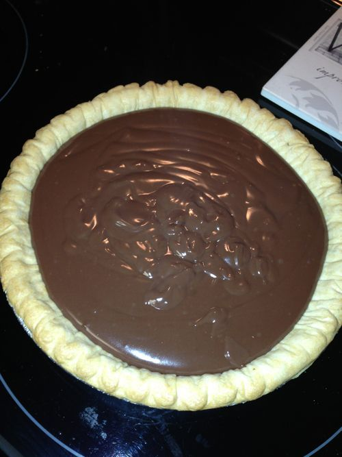 Mawmaw's Old Fashioned Chocolate Pie. 1/3 cf cocoa powder 1/3 c corn starch 1 c sugar 3 c milk Pour all ingredients into sauce pan. Stir continuously. This process takes a while to form into a pudding. Just keep stirring w/o stopping until it thickens. Po (chocolate mousse recipe cocoa)