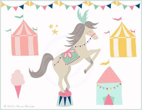 Circus Clip Art - Cute Circus Animals Clip Art - Girl ...