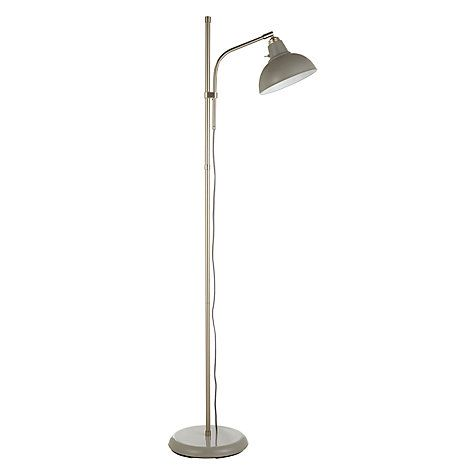 Buy John Lewis Croft Collection Campbell Floor Lamp, Grey Online at johnlewis.com