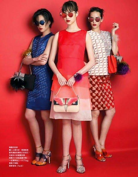 Vogue Taiwan June 2014, Mona Matsuoka + Saki Asamiya + Yuka Mizuhara