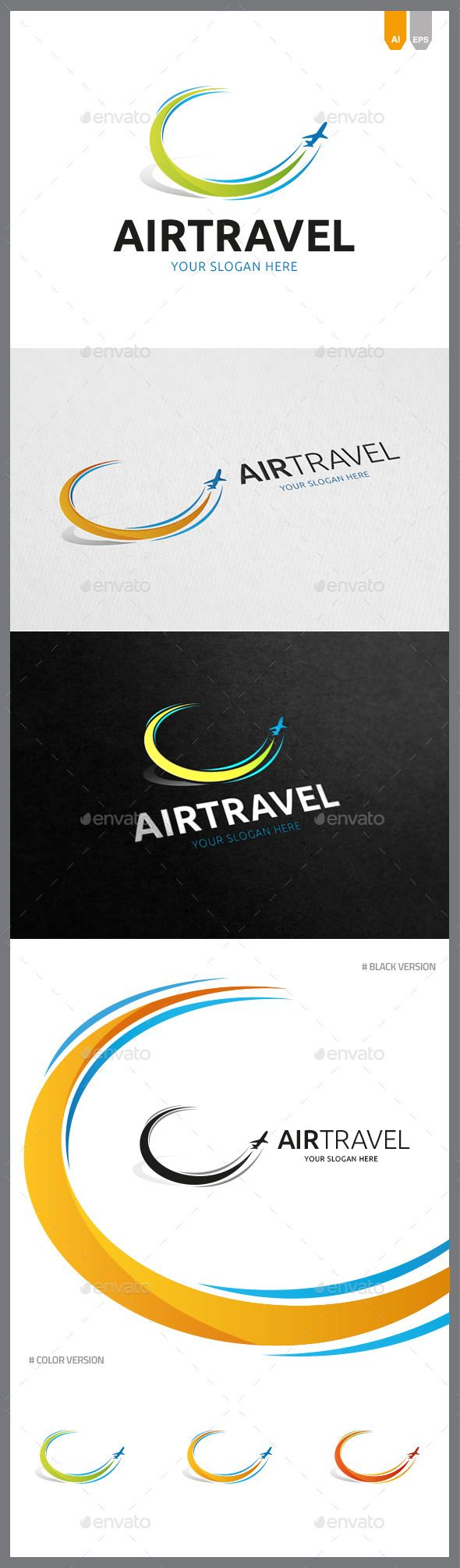 Air Travel  - Logo Design Template Vector #logotype Download it here: http://graphicriver.net/item/air-travel-logo/9167828?s_rank=1477?ref=nesto